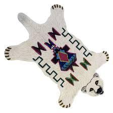 tapis ourson chambre b tapis ours tufté fait en inde par doing goods 150x88 cm