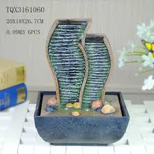table top water fall green polyresin water fountain tabletop waterfall fountain with