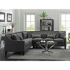 Tufted Sectional Sofas Iconic Home Fsa2677 An Aberdeen Chic Home Linen Tufted