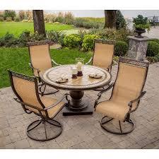 monaco 5 piece sling patio motion dining furniture set target