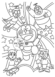 and friends coloring pages for kids printable free doraemon cartoon