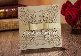 fancy invitations aliexpress buy fancy golden lace wedding invitation with