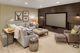 basement basement transitional with wall sconce knee wall