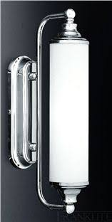 monza plus 400 bathroom wall light in polished chrome and white