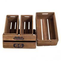 carrefour mobili da giardino mobili lot de 4 boite de rangement caisse fruit bois
