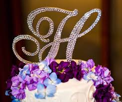 h cake topper 5 monogram cake topper any letter from the alphabet