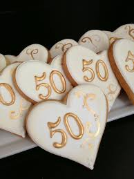 50th anniversary favors 50th anniversary cookies baked goods unlimited 50th