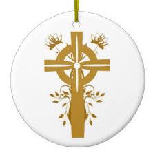 golden cross ornaments keepsake ornaments zazzle