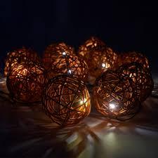 rattan ball fairy lights 10 solar power rattan wicker ball string lights fairy warm white