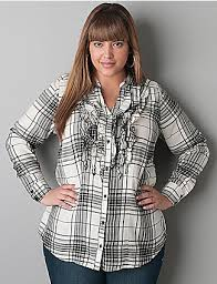casual style with plaid shirt plus size plaid shirts