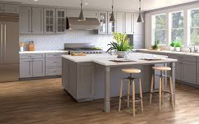 grey kitchen cabinets wood floor light grey shaker wood cabinet factory light