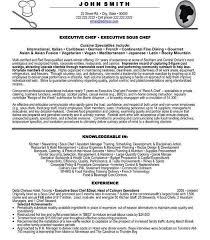 Chef Resume Example Head Chef Resume Head Chef Resume Templates Examples Job