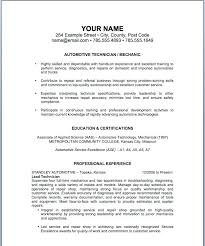 resume auto mechanic resume objective examples sample for