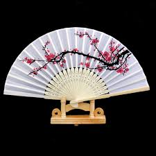 held fan spmart japanese bamboo plum blossom folding held fan pocket