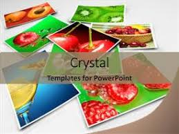 powerpoint template healthy diet with collage of depictions of