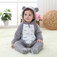 Totoro Halloween Costume Shop Flannel Totoro Romper Baby Animal Onesie Jumpsuit