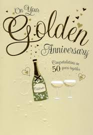 on your golden 50th anniversary greeting card cards kates