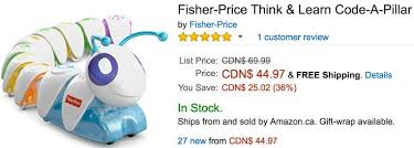 amazon black friday 2016 codes amazon canada black friday deals save 36 on fisher price think