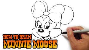 draw minnie mouse