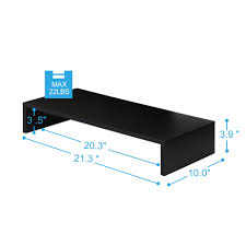 fitueyes 1 tier computer monitor riser 21 3