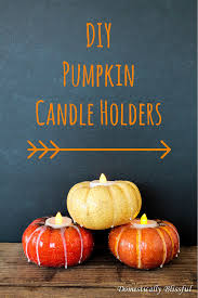 home made fall decorations pumpkin candle holders pumpkin candles thanksgiving and