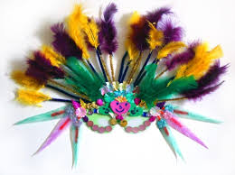 mardi gras mask with feathers new orleans mardi gras mask