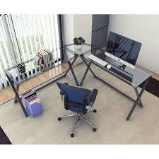 ryan rove keeling 3 piece x frame corner l shaped computer desk