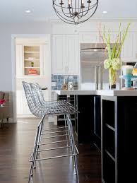 Contemporary Kitchen Contemporary White And Brown Kitchen Andrea Bazilus Hgtv