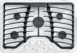 Ge Built In Gas Cooktop Ge Pgp953detww 30 Inch Gas Cooktop With 5 Sealed Burners 15 000