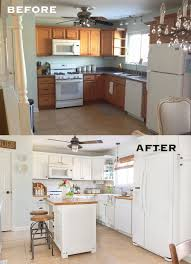 reveal and tour of a farmhouse style kitchen makeover on a budget