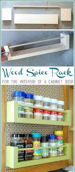 Wooden Spice Cabinet With Doors Brilliant Spice Storage Ideas You Will Find Really Useful