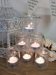 vintage tea light holders set of 6 vintage glass tea light holders candle votive hanging jars