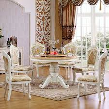 European Dining Room Furniture Furniture European Solid Wood Round Table And Chairs Table Six