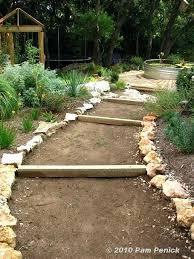 garden paths garden paths on slopes hillside gravel and timber path done garden