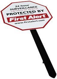 yard signs amazon com first alert ys 1 video security surveillance yard sign