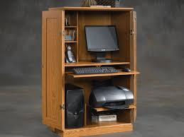 Armoire Cherry Wood Office Furniture Wooden Computer Armoire For Big Sized Computer