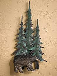 wooden pine tree wall pine tree wall decor wings