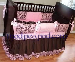 Pink And Brown Damask Crib Bedding Pink And Black Damask Crib Bedding