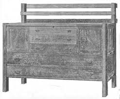 mission style sideboard