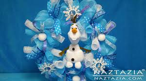 diy frozen inspired olaf wreath how to tutorial curls curly