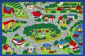 Cheap Childrens Rugs City Map Children Area Rug 39