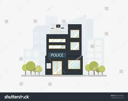 police station floor plans modern city police station department building stock vector