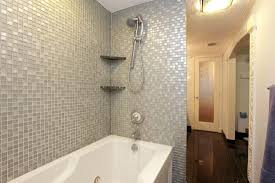 bathroom tiled showers ideas tile shower and tub combo might use tub for hallway bath user