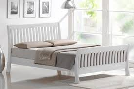 White Sleigh Bed White Sleigh Bed Frame Wooden Pine Beds