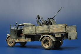 opel blitz with flak 38 scale 1 35 u2013 opel tamiya kit tristar flak u2013 dak north africa