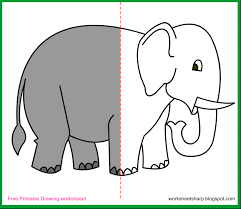 coloring pages free drawing worksheets printable elephant
