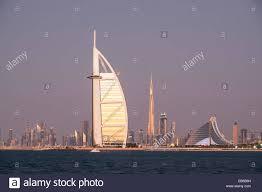 Al Burj by Skyline Of Dubai With Burj Al Arab Hotel And Burj Khalifa Tower In