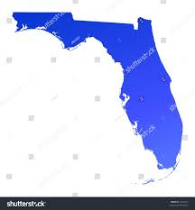 Florida Map Image by Blue Gradient Florida Map Usa Detailed Stock Illustration 7254742