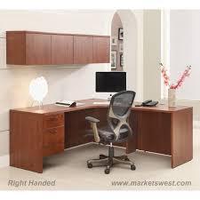 mahogany corner bookcase l shape desk 72