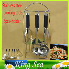 ustensil cuisine free shipping arrival high standard 6pcs stainless steel cooking